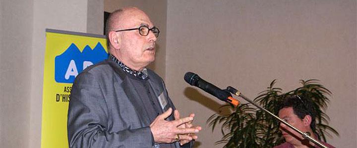 Gilbert Meynier à Evian, le 17 mars 2012, colloque organisé à Évian pour le cinquantenaire des accords, © Michel Tréboz