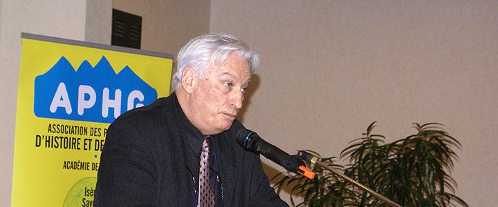 Gilles Manceron le 17 mars 2012 à Évian, © Michel Tréboz