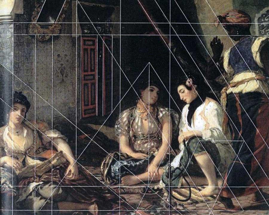 Eugène Delacroix, Femmes d'Alger dans leur appartement, 1834