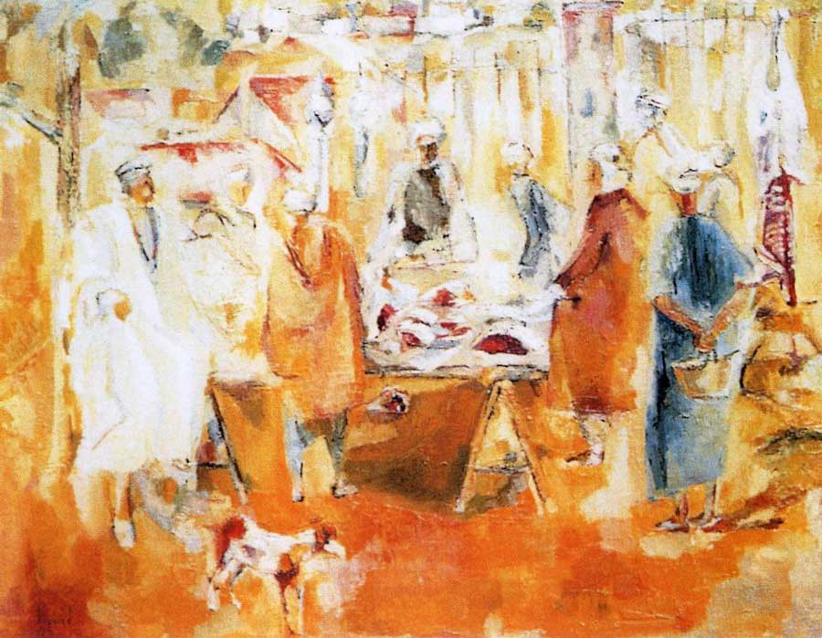 Mohamed Bouzid, Marché, vers 1953