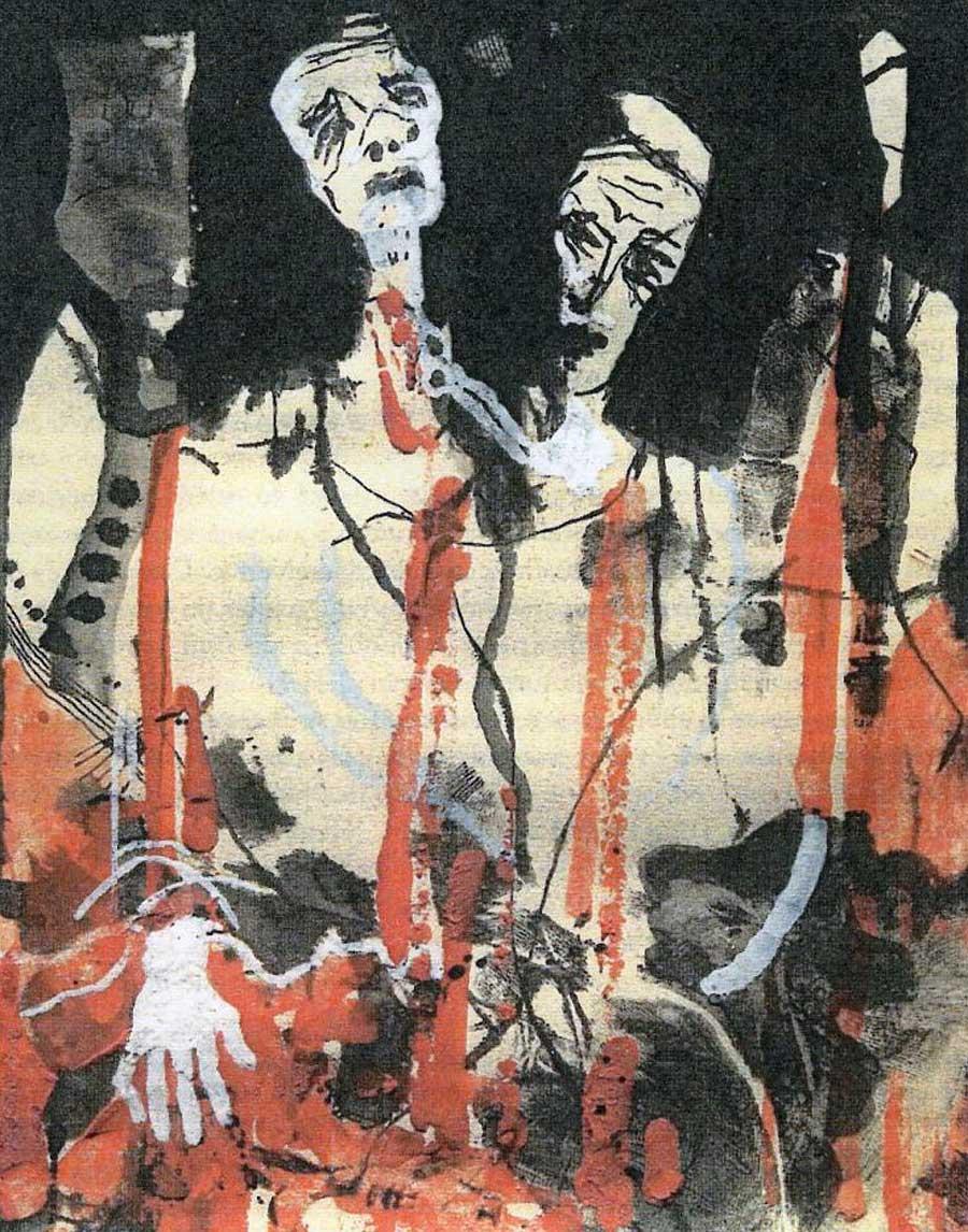 M'hamed Issiakhem, La mort de Lakhdar, 1974