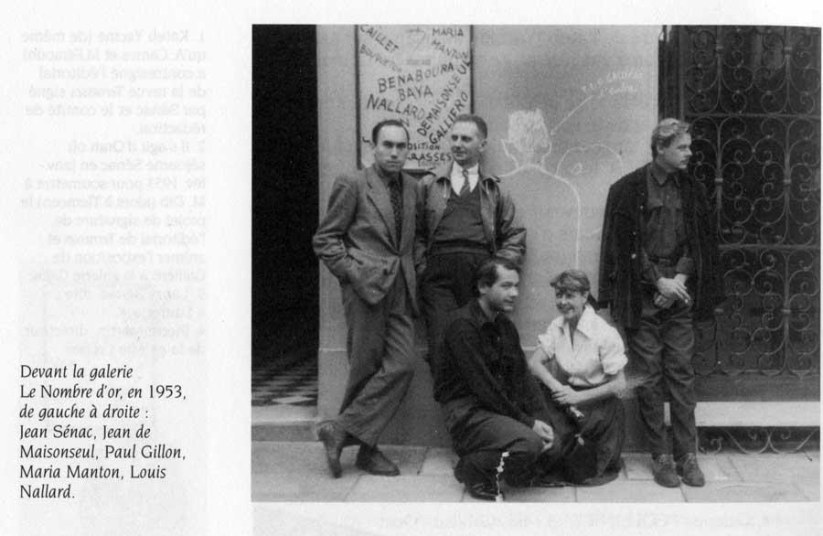 Jean Sénac, Jean de Maisonseul, Paul Guillon, Maria Manton, Louis Nallard