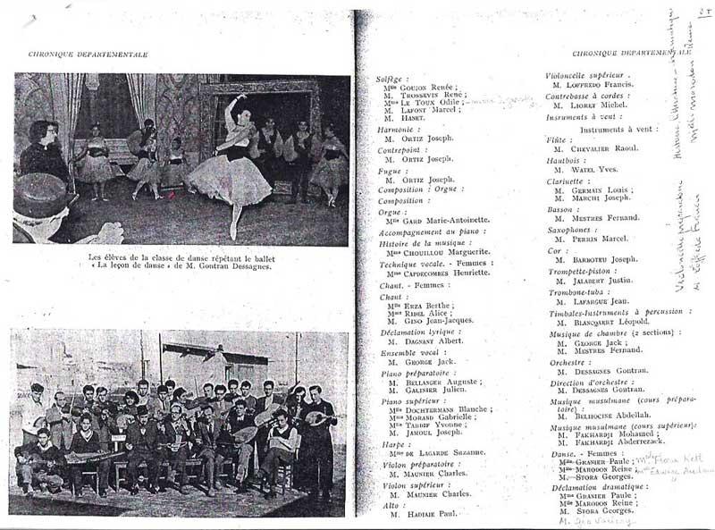 Classe de danse classique et de musique musulmane
